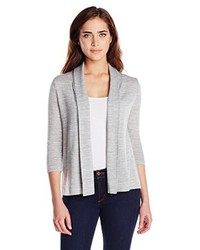 Colourworks Colour Works Merino Open Cardigan Sweater With Pleats