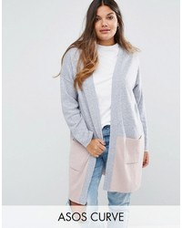 Asos Curve Curve Cardigan In Color Block