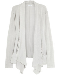 James Perse Draped Open Knit Cotton Cardigan