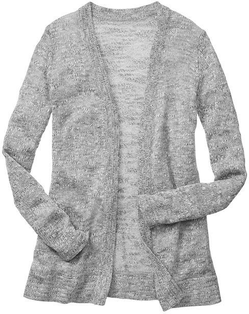 Gap Factory Marled Open Front Cardigan   Where to buy & how to wear