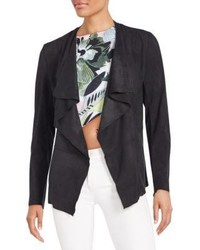 Romeo & Juliet Couture Faux Suede Open Front Cardigan