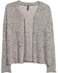 H&M Fine Knit Cardigan Gray Ladies