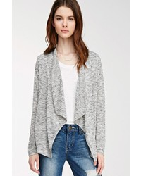 Forever 21 Contemporary Drape Front Marled Cardigan