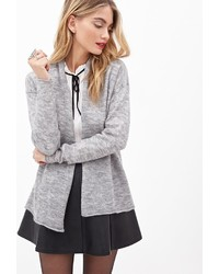 Forever 21 Contemporary Heathered Open Front Cardigan