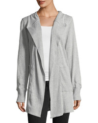 Allen Allen Hooded Open Front Cardigan