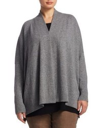 Lafayette 148 New York Plus Size Relaxed Open Cashmere Cardigan