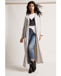 Forever 21 Longline Open Front Duster Cardigan