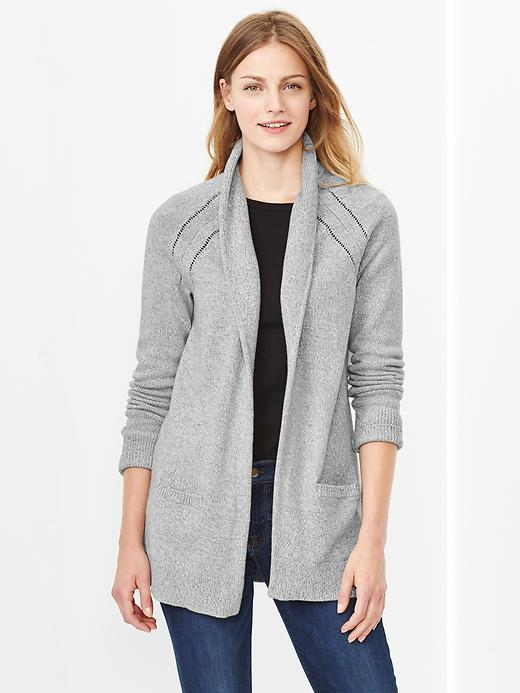 Gap Marled Shawl Open Front Cardigan   Where to buy & how to wear