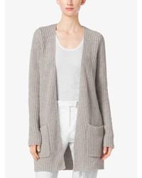 Michael Kors Shaker Stitch Cashmere And Linen Cardigan