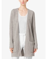 Michael Kors Michl Kors Shaker Stitch Cashmere And Linen Cardigan