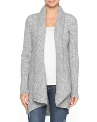 Moda Immagine Open Ribbed Cardigan