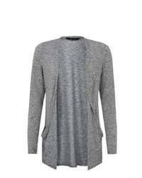 New Look Grey Drop Pocket Boyfriend Cardigan
