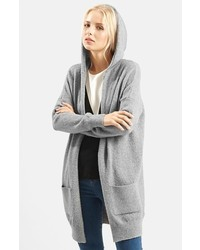 Topshop Open Front Hooded Cardigan