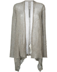 Rick Owens Open Front Shawl Cardigan