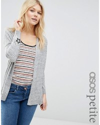 Asos Petite Cardigan With Black Star Embroidery At Cuff