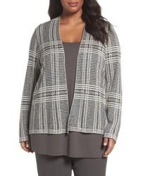 Eileen Fisher Plus Size Shaped Tencel Merino Wool Cardigan