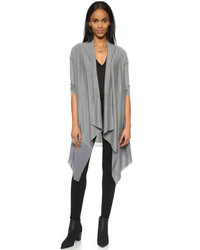 DKNY Pure Long Sleeve Draped Front Cardigan