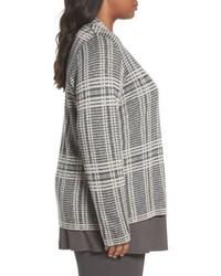 Eileen Fisher Shaped Tencel Lyocell Merino Wool Cardigan
