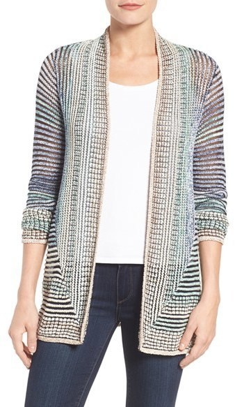 Nic+Zoe Stripped Away Cardigan