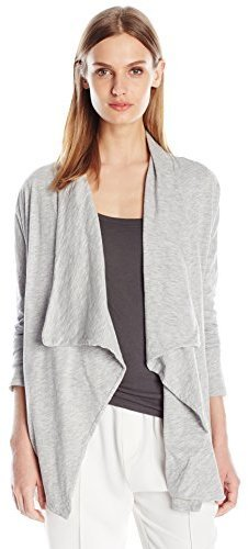 Velvet by Graham & Spencer Cotton Slub Open Drape Cardigan