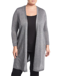 Vince Camuto Plus Lurex Open Front Cardigan Plus Size
