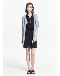 Mango Outlet Waterfall Wool Blend Cardigan