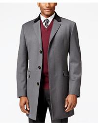 Lauren Ralph Lauren Chesterfield With Black Contrast Collar Classic Fit Overcoat