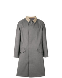 Maison Margiela Contrast Collar Fitted Coat