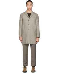Harris Wharf London Grey Wool Boxy Coat