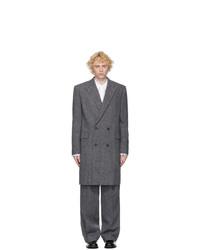 Juun.J Grey Wool Coat