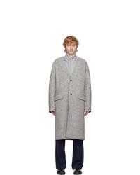 Kenzo Grey Wool Coat