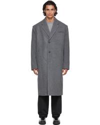 System Grey Wool Coat