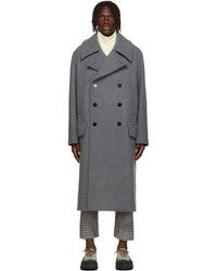 Jil Sander Grey Wool Military Coat