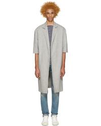 Fear Of God Grey Wool Overcoat