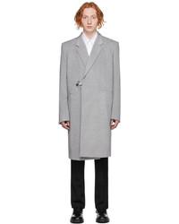 Givenchy Grey Wool Padlock Coat