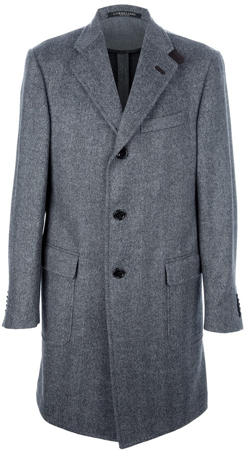 Corneliani Herringbone Long Coat