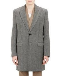 Maison Margiela Herringbone Overcoat Grey