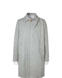 Sacai Layered Melton Wool Blend Coat