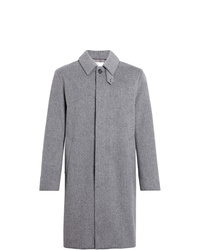 MACKINTOSH Light Grey Storm System Wool 34 Coat Gm 001f