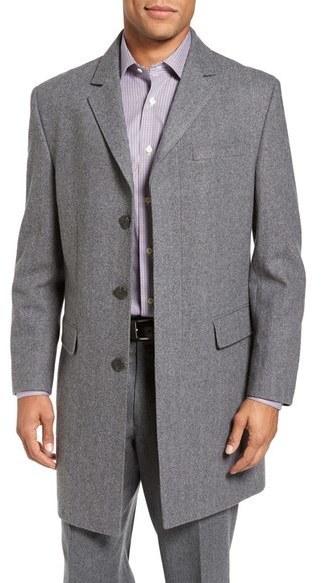 Hart Schaffner Marx Maitland Modern Fit Wool Blend Overcoat