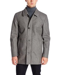 Vince Camuto Melton Car Coat With Removable Quilted Bib