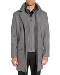 Melton topcoat with removable bib medium 5168604