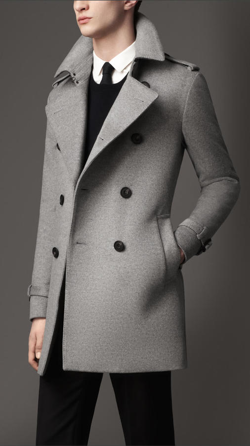 Burberry Mid Length Wool Cashmere Trench Coat   Where to buy   how ... 64bca88c1d