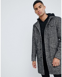 ONLY & SONS Stand Collar Wool Overcoat Melange