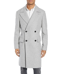 Club Monaco Trim Fit Double Breasted Wool Blend Topcoat