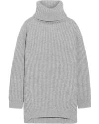 ... Acne Studios Disa Oversized Ribbed Wool Turtleneck Sweater Stone 8b3933ba85b
