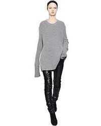 Haider Ackermann Ribbed Stretch Wool Blend Sweater