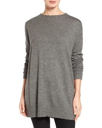 Eileen Fisher Lush Merino Wool Blend Oversize Crewneck Sweater