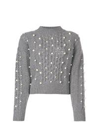 MAISON KITSUNE Maison Kitsun Pearl Embellished Sweater