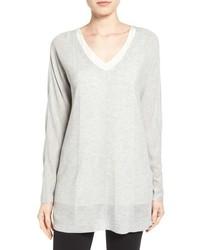 Halogen Oversize V Neck Sweater